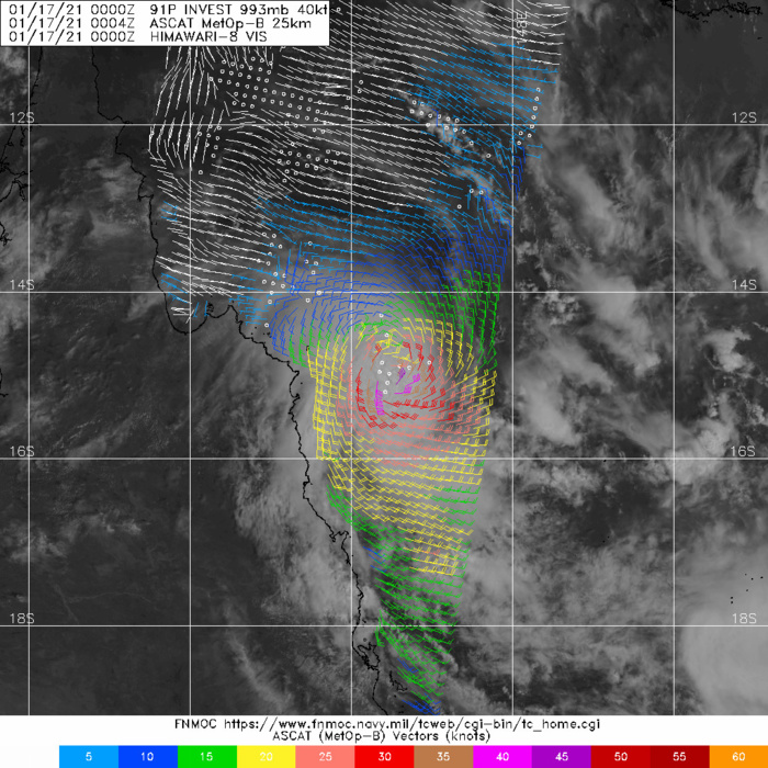 17/0004UTC. ASCAT-B PASS   SHOWED 40-45 KNOT WINDS IN A TIGHT CORE OF HIGH WINDS NEAR THE CENTER.