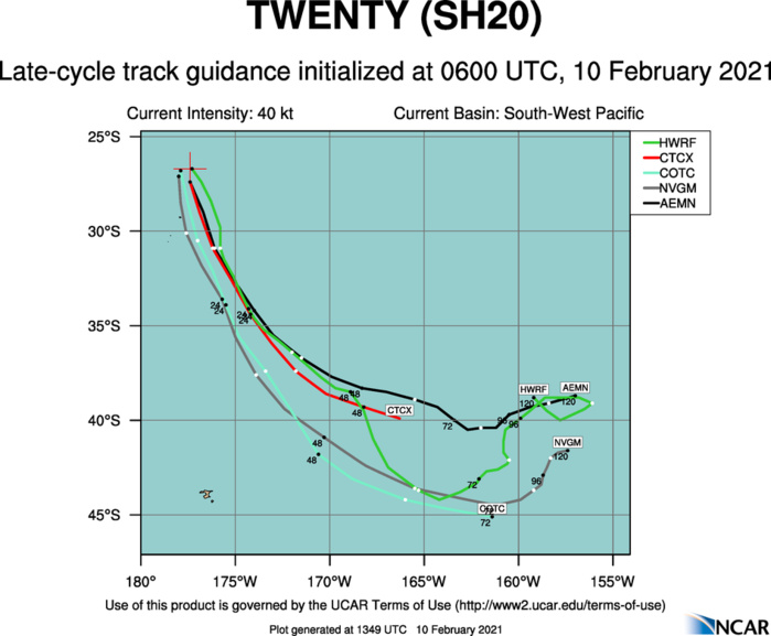 20P(TWENTY). NUMERICAL MODEL GUIDANCE IS IN GOOD AGREEMENT AND THERE IS HIGH  CONFIDENCE IN THE JTWC FORECAST TRACK.