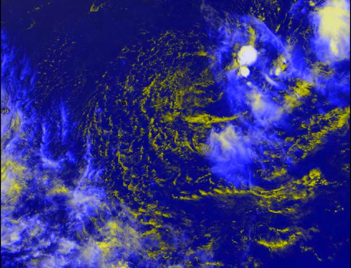 REMNANTS OF 19S(FARAJI). MULTISPECTRAL SATELLITE IMAGERY DEPICTS A WEAK LOW LEVEL CIRCULATION WITH ISOLATED POCKETS OF FLARING CONVECTION.Eumetsat. PH.