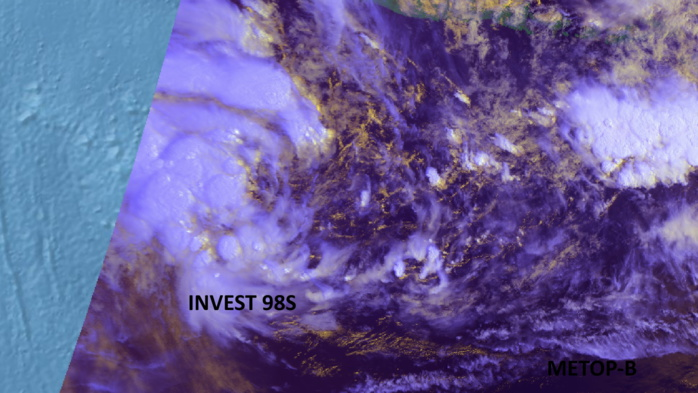INVEST 98S. 25/0113UTC. METOP-B. Eumetsat.