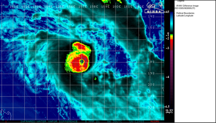23P(NIRAN). 05/0630UTC.ANIMATED ENHANCED INFRARED SATELLITE IMAGERY SHOWS THE EMERGENCE OF A VERY WELL  DEFINED 22KM EYE BY 0600UTC.