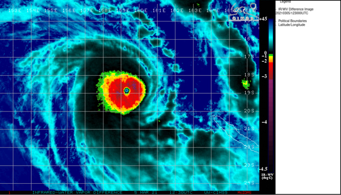 23P(NIRAN). 05/1230UTC.VERY COMPACT 19KM EYE, SURROUNDED BY A UNIFORM RING OF VERY COLD CONVECTIVE CLOUD TOPS.