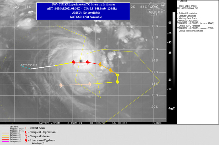 24S(HABANA). EYE POSITION AT 06/01UTC COMPARED TO THE WARNING POSITION ISSUED AT 05/21UTC.