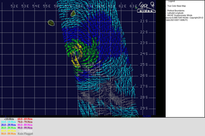 25S(IMAN). THE CURRENT  POSITION AND INTENSITY ARE BASED ON A 071724Z METOP-B ASCAT PASS WHICH READ 45KNOT WINDS.