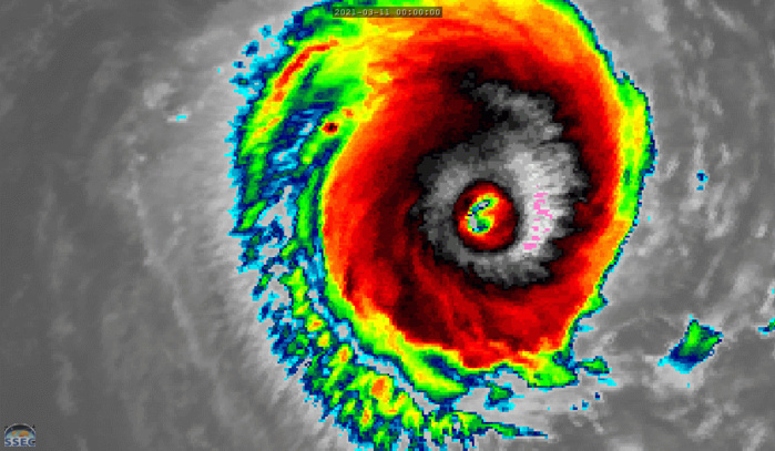 24S(HABANA). 11/09UTC. 9H ANIMATION. THE SYSTEM HAS COMPLETED AN EYEWALL REPLACEMENT CYCLE AS THE NEW RAGGED EYE HAS SHRUNK TO APPROXIMATELY 33KM.THE SYSTEM REMAINS COMPACT AND SYMMETRICAL.11/0830UTC SATELLITE BULLETIN FROM JTWC INDICATES A SHORT-TERM GAIN IN ORGANIZATION FROM 11/06UTC WITH DVORAK BEING AT 6.5/6.5 +0.5/3HOURS. CLICK ON THE IMAGERY TO ANIMATE IF NEEDED.