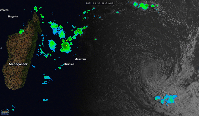 24S(HABANA). 16/08UTC. ANIMATED SATELLITE IMAGERY DEPICTS A WELL DEFINED LOW LEVEL CIRCULATION DEVOID OF DEEP CONVECTION. IF NEEDED CLICK TO ANIMATE.