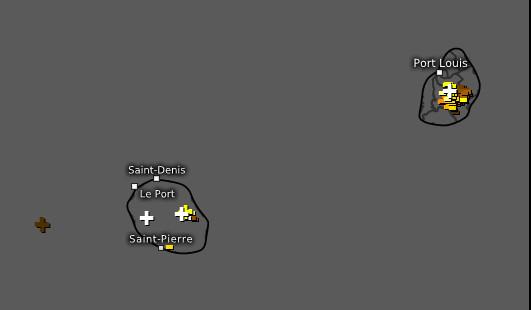 14h05 ce Mardi. Activité orageuse détectée sur les ILES SOEURS. Elle est alors sur le déclin à MAURICE alors qu'elle se prolonge localement pendant un peu plus d'1heure sur la RÉUNION. WUS.