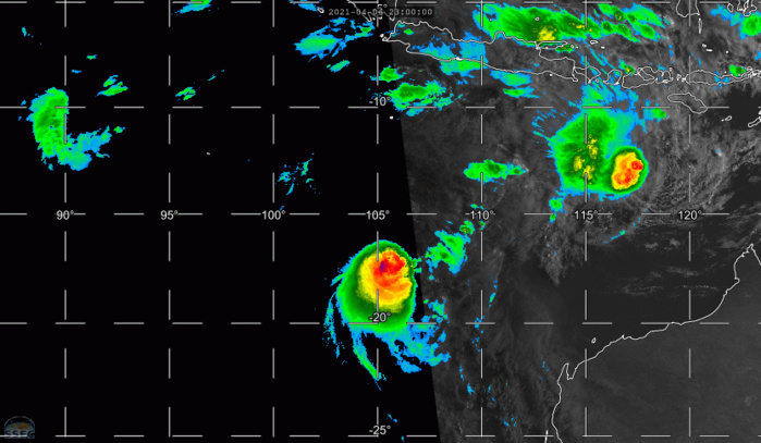 07/08UTC. 9H LOOP. FROM RIGHT TO LEFT: TC 26S(SEROJA). TC 27S AND INVEST 91S. IF NEEDED CLICK TO ANIMATE.