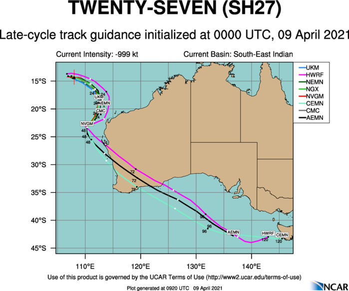 27S(ODETTE). THE TRACK FORECAST IS GENERALLY SIMILAR TO THE PREVIOUS  WARNING; HOWEVER, THE TRACK FOR TC 27S SHIFTED EASTWARD BY 48H AS  THE DYNAMICAL MODELS ARE TRYING TO RESOLVE THE TWO SYSTEMS AND THE  DISSIPATION OF ODETTE INTO SEROJA.