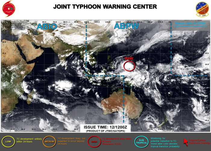 Western North Pacific: tropical cyclone formation alert(TCFA) issued for Invest 94W, 12/1130utc