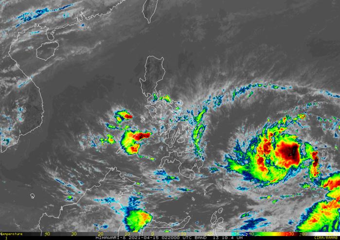 02W(SURIGAE).15/02UTC. PERIPHERAL BANDS TRACKING CLOSE TO THE PHILIPPINES.