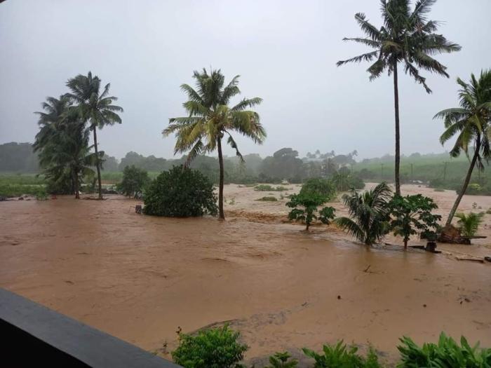 Inondations dans le Sud-Est de MAURICE ce Vendredi.