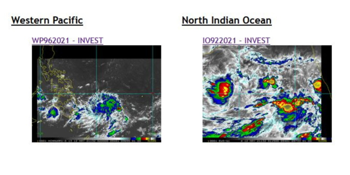 12/02UTC. INVEST 96W AND INVEST 92A.