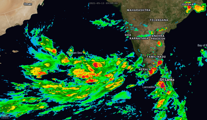 TROPICAL CYCLONE FORMATION ALERT(TCFA) ISSUED FOR INVEST 92A OVER THE ARABIAN SEA APPROXIMATELY 980KM SOUTH OF MUMBAI. GLOBAL MODELS SUGGEST HIGH DEVELOPMENT POTENTIAL FOR THIS SYSTEM ONCE IT MOVES NORTHWARD.