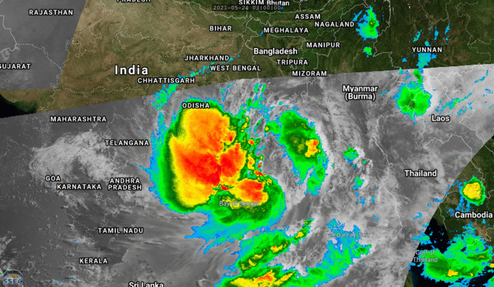 TC 02B(YAAS). 24/09UTC. 6H LOOP. ANIMATED MULTISPECTRAL SATELLITE IMAGERY DEPICTS A CONSOLIDATING BUT BROAD, PARTLY EXPOSED LOW  LEVEL CIRCULATION WITH A WIDE SWATH OF DEEP CONVECTIVE BANDING OVER THE WESTERN SEMICIRCLE OF THE SYSTEM. IF NECESSARY CLICK ON THE IMAGE TO ANIMATE.