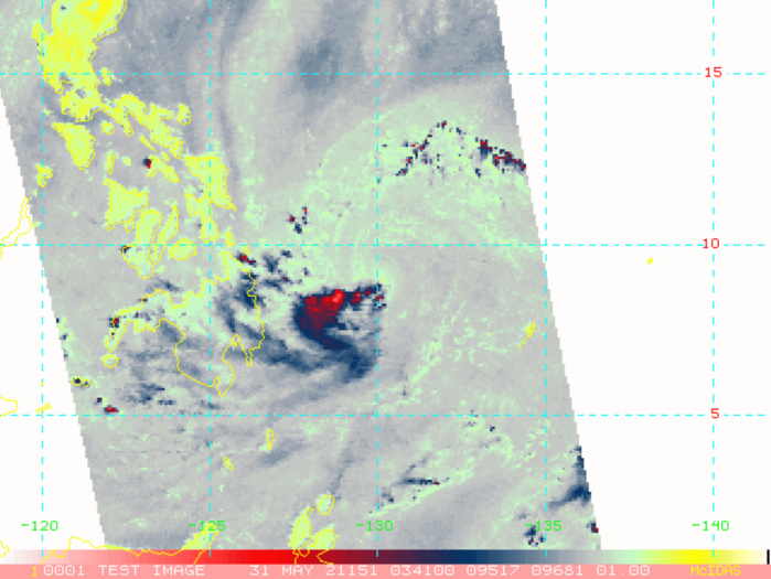 31/0455UTC.EARLIER MICROWAVE OVERPASS SHOWING THE EXPOSED LOW LEVEL CIRCULATION CENTER.