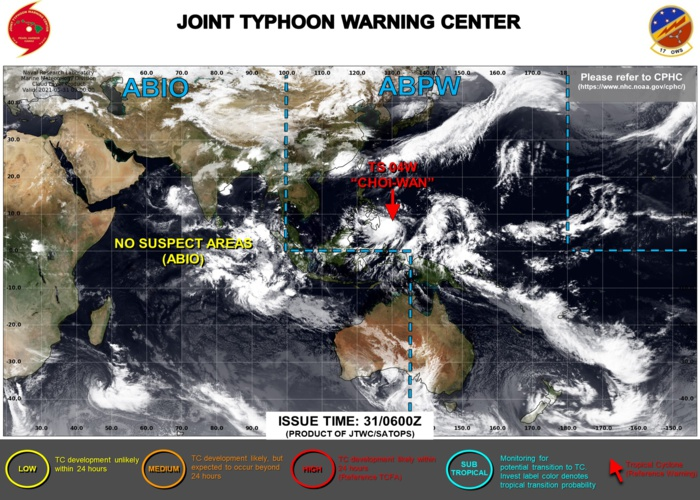 WNP: 04W named (CHOI-wan) is forecast to intensify to Typhoon/CAT 1 in 36hours and then track close to the East of Catanduanes, 31/09utc update