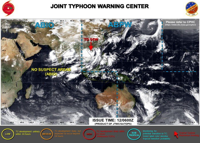 JTWC IS ISSUING 6HOURLY WARNINGS AND 3HOURLY SATELLITE BULLETINS ON TD 05W.