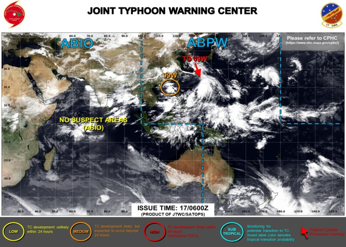 INVEST 99W NOW ON THE MAP AND UP-GRADED TO MEDIUM. ON THE OTHER HAND JTWC IS ISSUING 6HOURLY WARNINGS  AND 3HOURLY SATELLITE ON 09W. BULLETINS.
