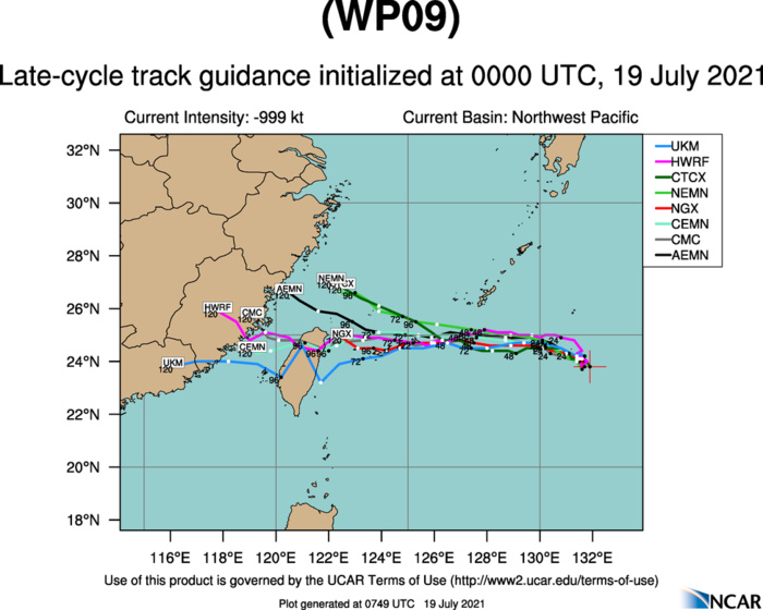 TS 09W(IN-FA).MODEL DISCUSSION: THERE IS INCREASING CONFIDENCE IN THE TRACK FORECAST THROUGH 72H WITH MEDIUM CONFIDENCE; AT 48H THERE IS A 85KM SPREAD IN NUMERICAL MODEL GUIDANCE AND AT 72H THERE IS A 220KM SPREAD IN SOLUTIONS. AFTER 72H, MODEL GUIDANCE DIVERGES  WITH A LARGE SPREAD AND LOW CONFIDENCE. THERE IS MEDIUM CONFIDENCE  IN THE JTWC INTENSITY FORECAST THROUGH THE FORECAST PERIOD.