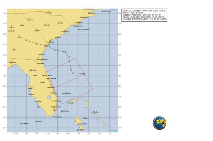 ATLANTIC. INVEST 90L. TROPICAL CYCLONE FORMATION ALERT ISSUED AT 24/15UTC.