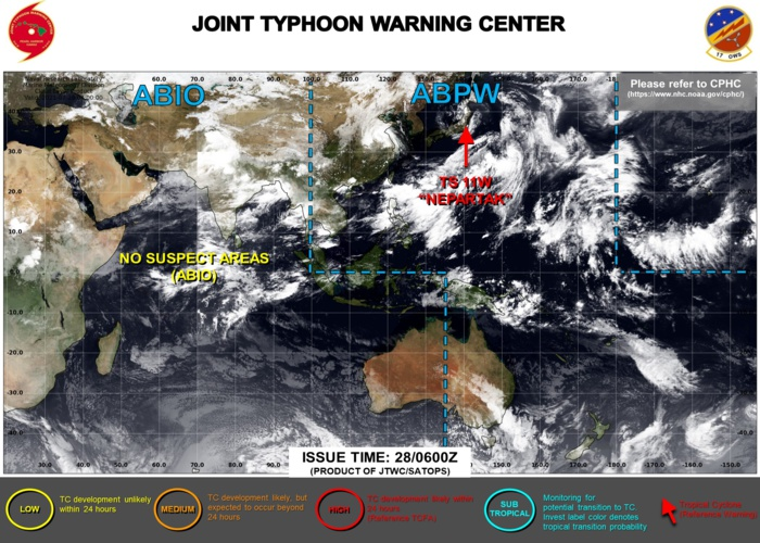 JTWC IS ISSUING 6HOURLY WARNINGS ON 11W. 3HOURLY SATELLITE BULLETINS ARE ISSUED ON 11W AND ON 09W(OVER-LAND).