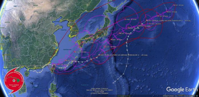TS 13W,TS 14W AND TS 15W. KML MAPS AT 07/03UTC.