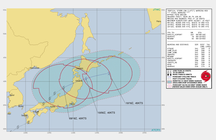 TS 13W(LUPIT). WARNING 29/FINAL ISSUED AT 09/21UTC.