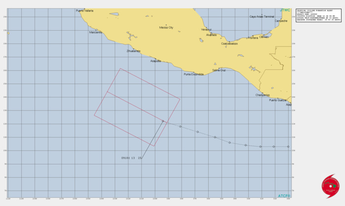 EASTERN PACIFIC. INVEST 93E. TROPICAL CYCLONE FORMATION ALERT RE-ISSUED AT 10/00UTC.