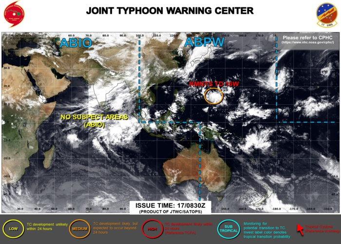 JTWC HAVE ISSUED WARNING 28/FINAL ON 16W AT 17/09UTC. THE SYSTEM IS DOWN-GRADED TO MEDIUM WITH MODERATE CHANCES OF REGENERATION. 3HOURLY SATELLITE BULLETINS ARE STILL ISSUED ON IT.