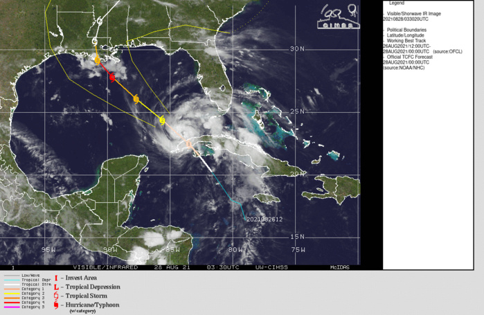 HU 09L(IDA). FORECAST TO BECOME A POWERFUL CATEGORY 4 HURRICANE OVER THE GULF OF MEXICO.