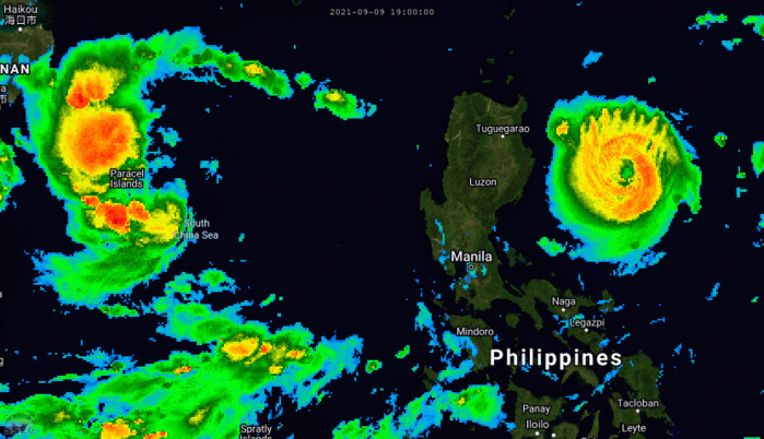 Western Pacific: Super Typhoon 19W(CHANTHU) is intensifying once again 215km SE of Aparri, 18W(CONSON) update, E.Pacific & Atlantic updates10/03utc