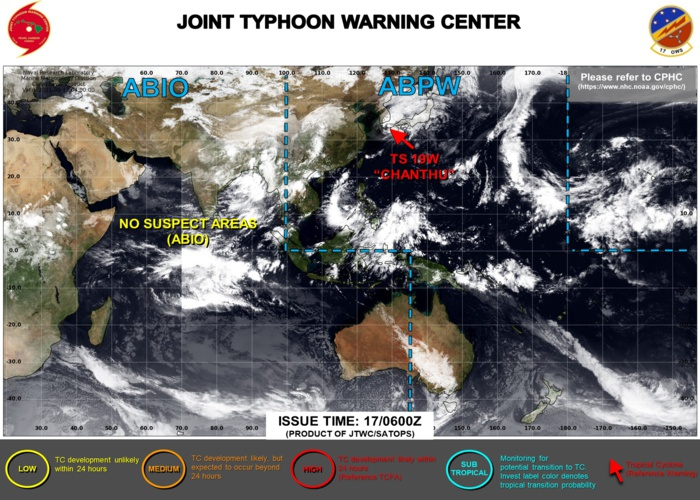 Western Pacific: 19W(CHANTHU) monitored for the past 12 days and still there//Atlantic: Tropical Cyclone Formation Alert issued again for 96L,17/09utc