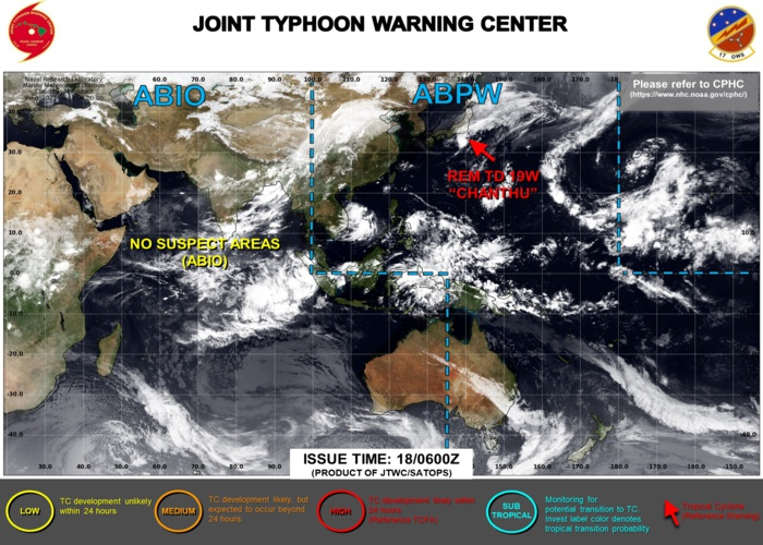 Western Pacific: 19W(CHANTHU) Final Warning on the 2nd most intense cyclone of 2021//Atlantic: 15L(ODETTE) intensifying, 18/09utc