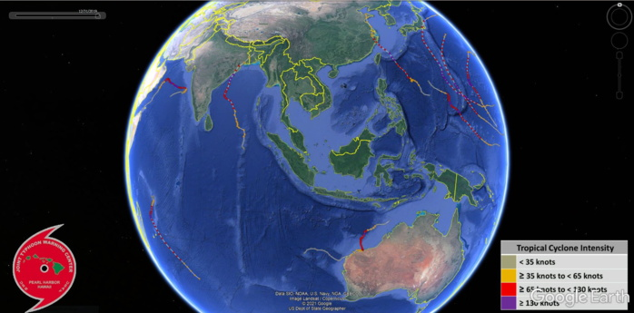 WESTERN PACIFIC AND NORTH INDIAN: 2019 CALENDAR YEAR. SOUTHERN HEMISPHERE: JULY 01 2018 TO JUNE 30 2019.