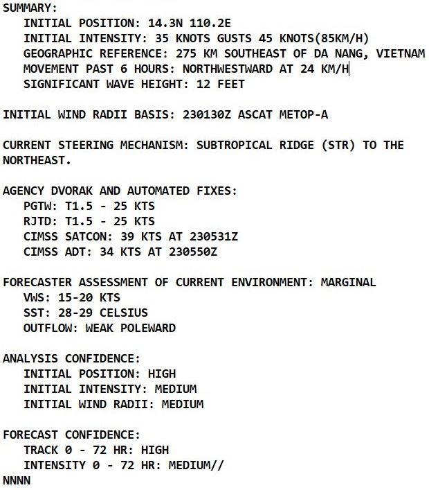 Western Pacific: TS 21W(DIANMU) landfall South of Dan Nang/TS 20W forecast to peak at Typhoon/CAT 4 by 96h//Atlantic: TD 18L intensifying, 23/09utc