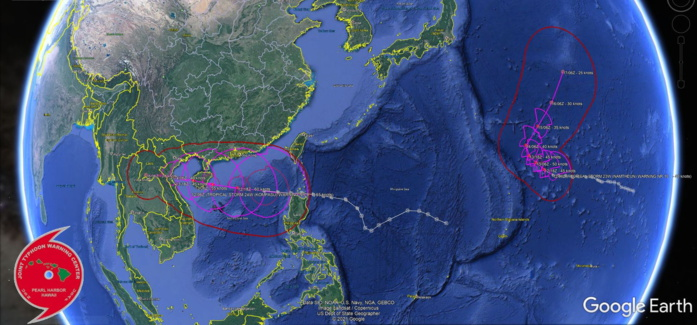 TS 24W(KOMPASU) is a very large system over the South China Sea, 12/09utc update