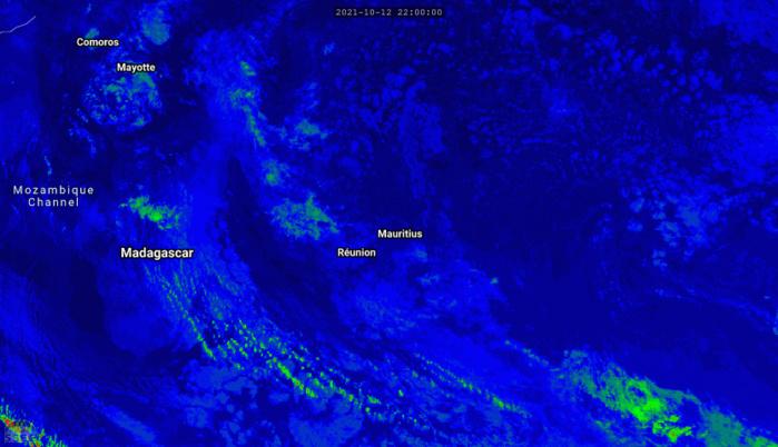ILES SOEURS: Mercredi 13 Octobre 2021: les prévisions du temps pour MAURICE et la RÉUNION