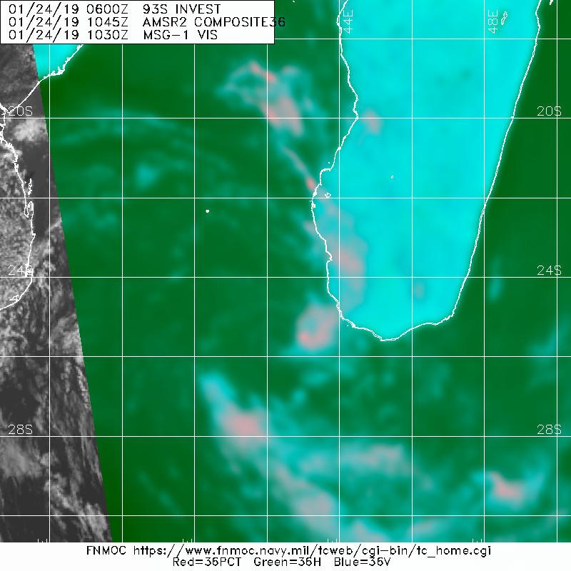 En revanche plus proche de la surface c'est moins convaincant. On estime que le centre est toujours isolé(exposé) à l'ouest de la convection.
