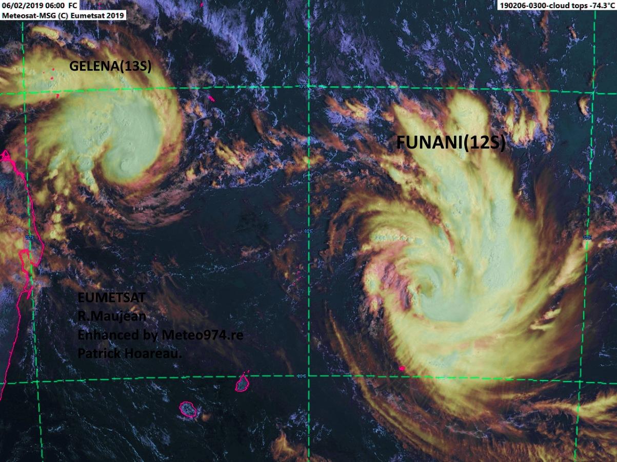 """Satellite à 10h. R.Maujean, """"enhanced"""" par Meteo974.re"""
