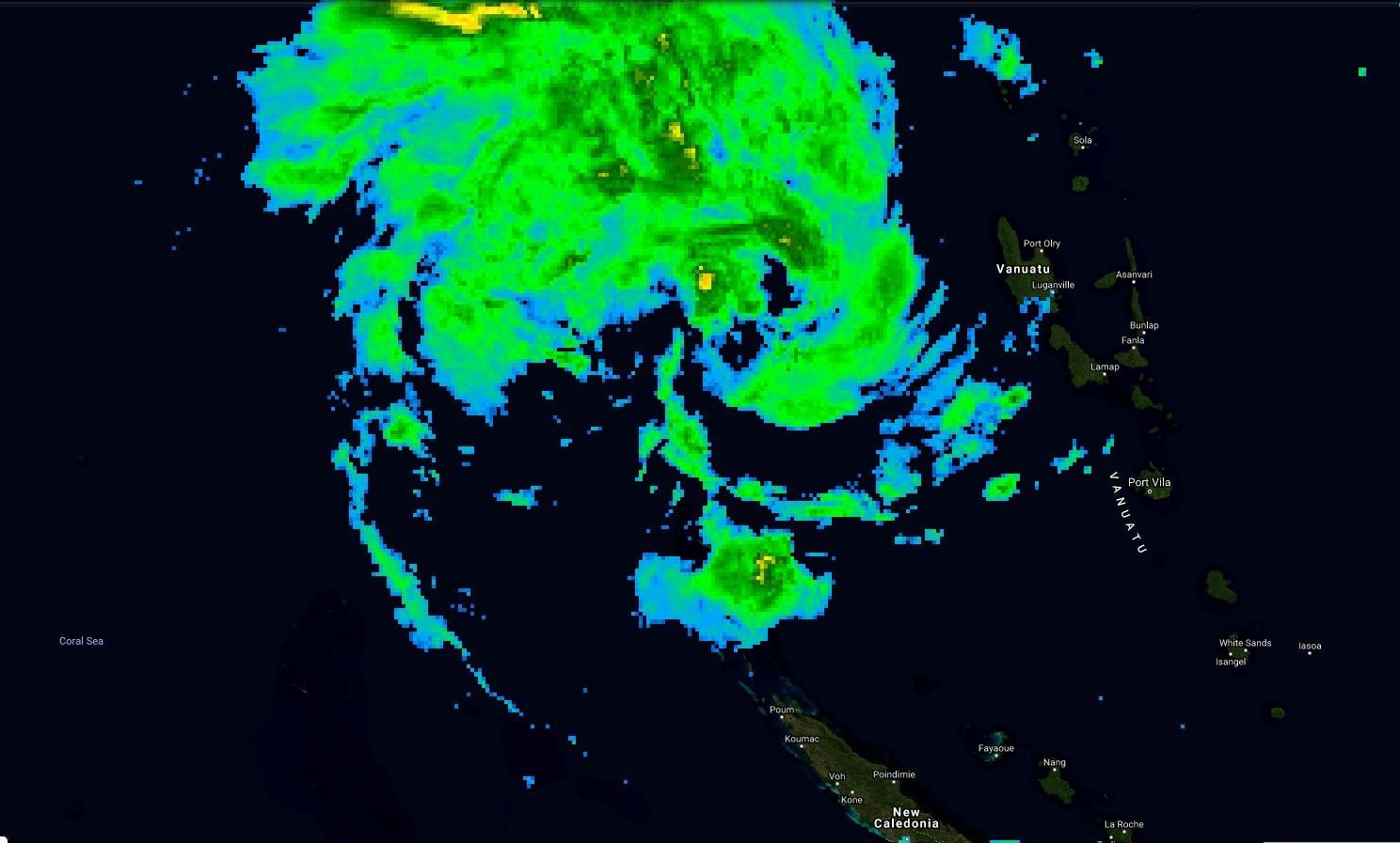Photo satellite 07h/Mascareignes, 14h/Nouméa.