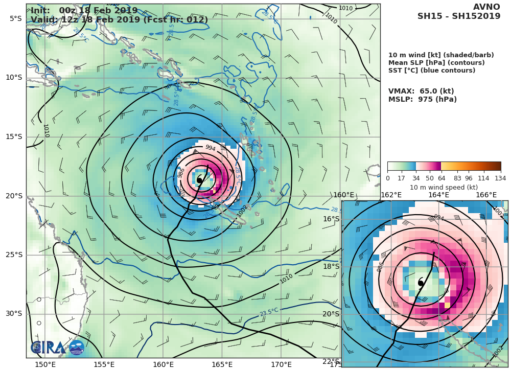 09UTC: OMA reduced to a 45knots cyclone, forecast to intensify gradually next 48hours