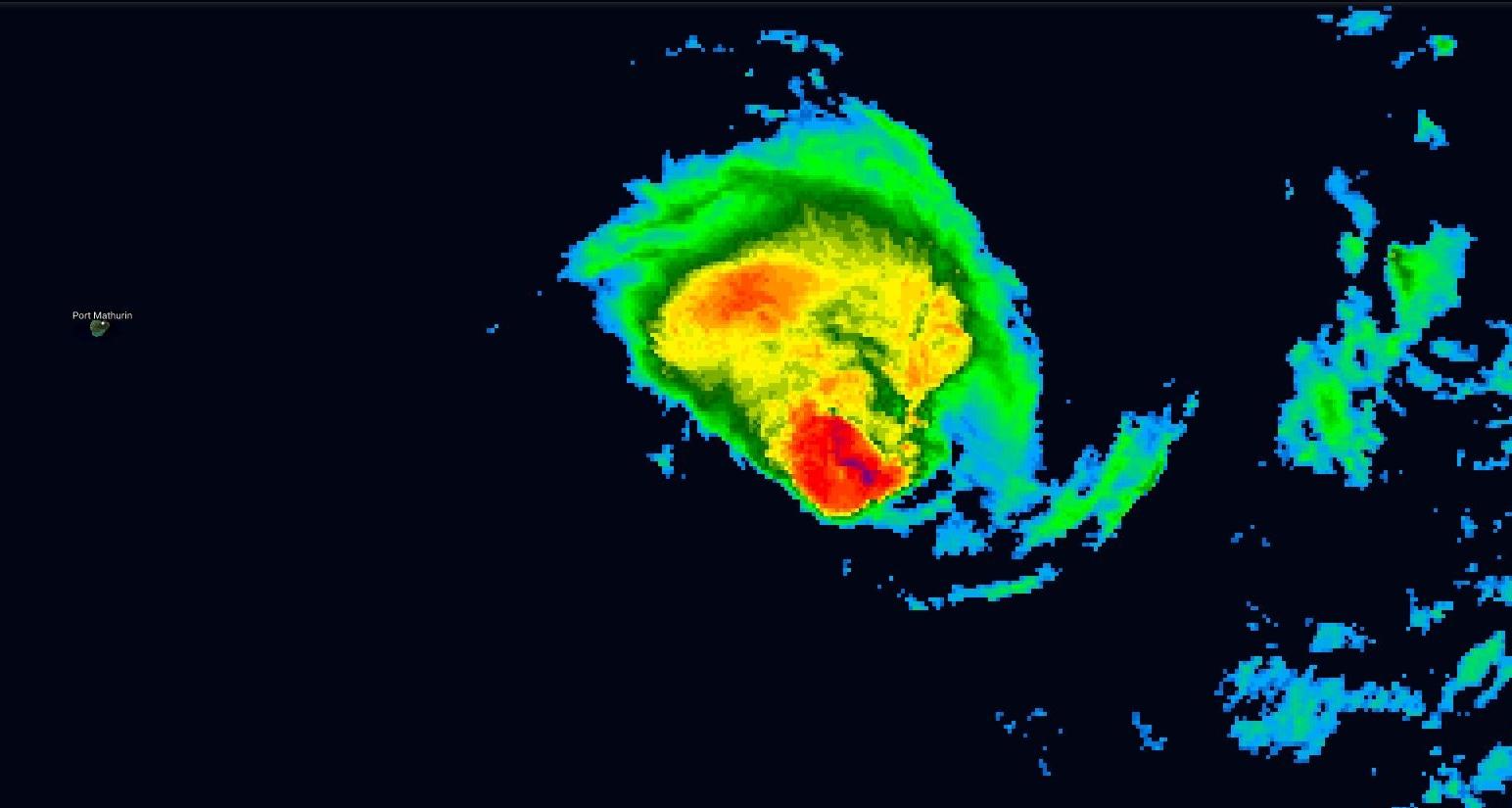 HALEH(17S) perd de sa superbe, photo satellite à midi.