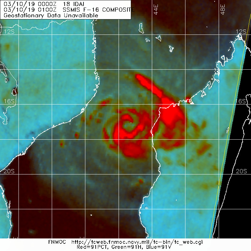 01UTC: the satelllite signature is improving.