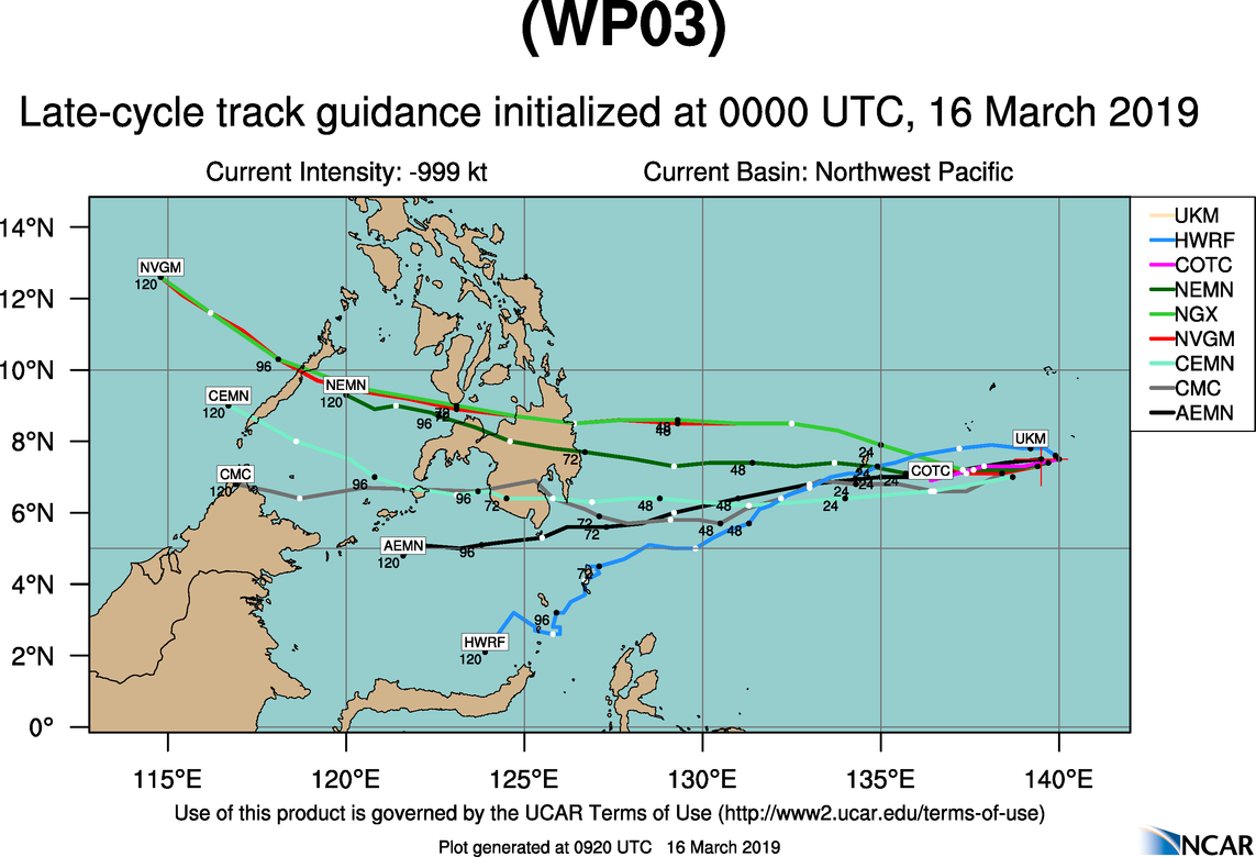 09UTC: tropical depression 03W set to cross Palau within 24hours and dissipate over southern Mindanao in 3 days