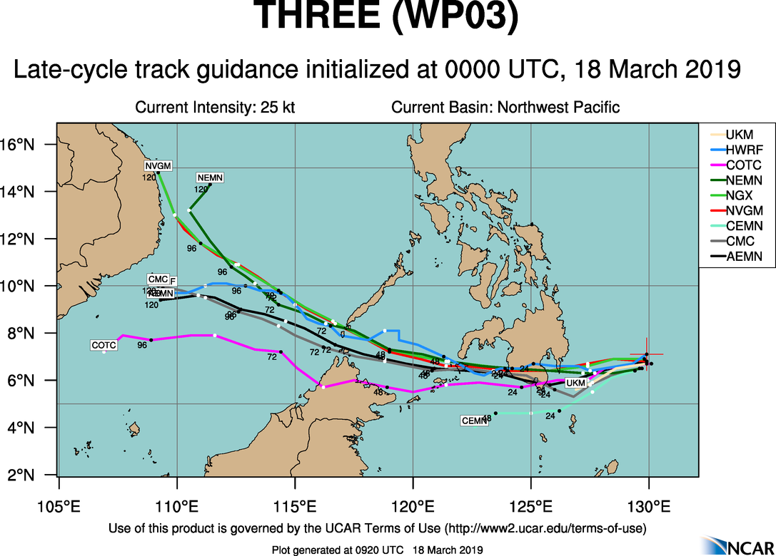 09UTC: TD 03W is dissipating while close to landfall in 12hours near Davao/Mindanao. Max intensity reached was 25knots. JMV File joined