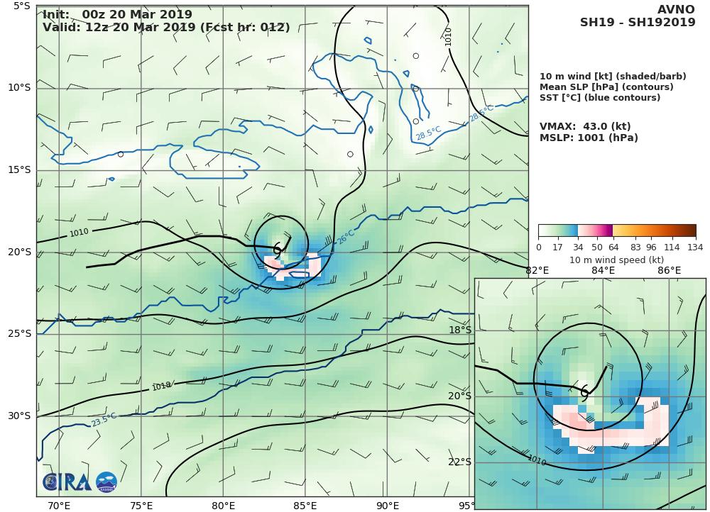 09UTC: South Indian: TC SAVANNAH(19S): flaring convection, slow-moving system