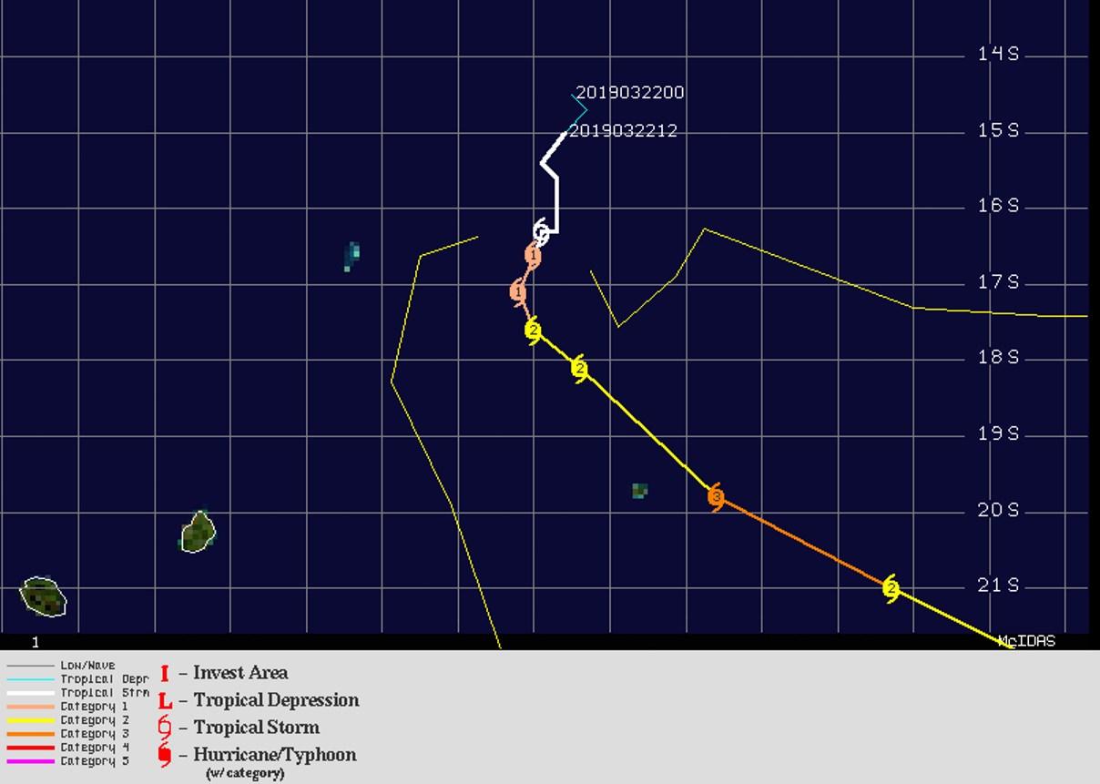 Carte de prévisions n6 du JTWC ce jour à 10heures.