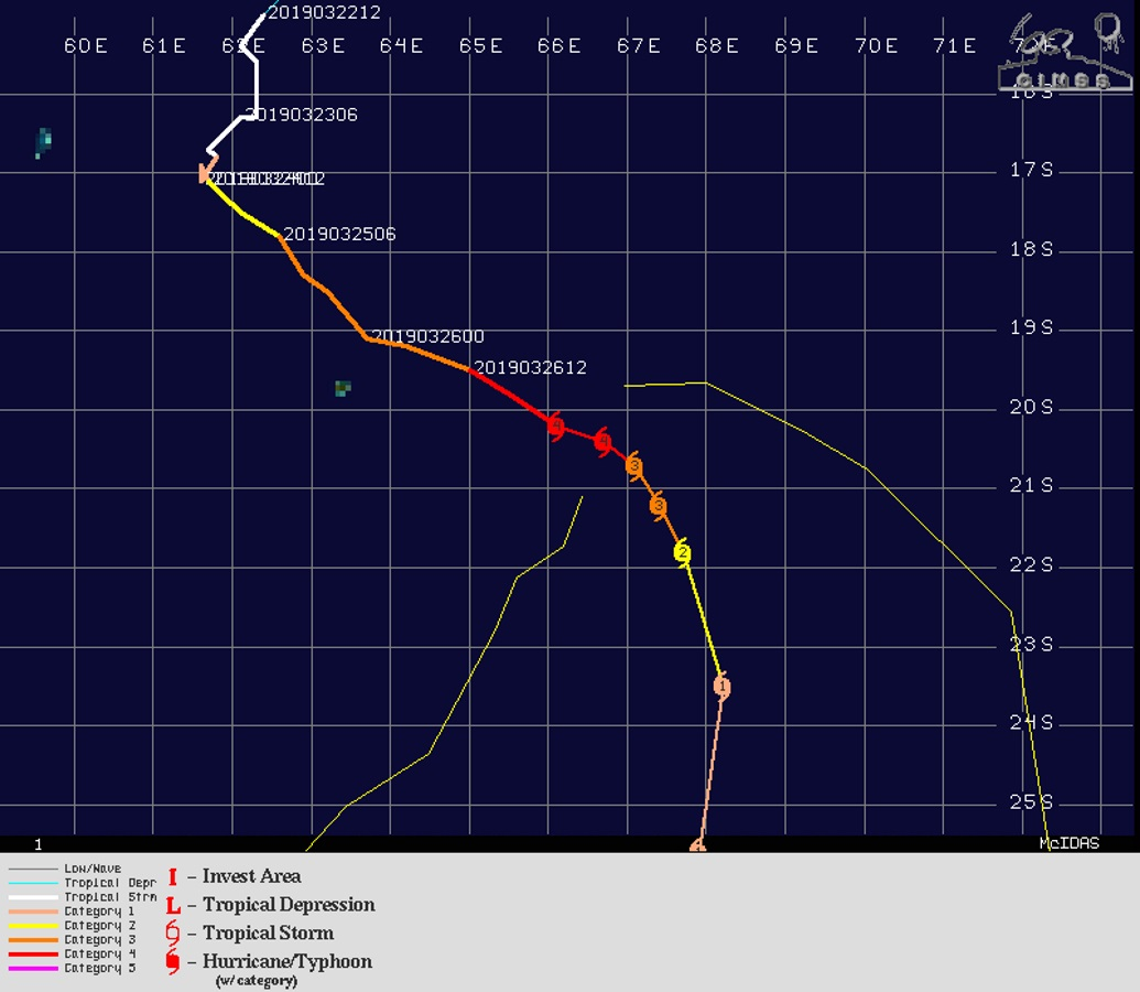 03UTC: JOANINHA(22S) category 4 US still benefiting from good environment now away from Rodrigues