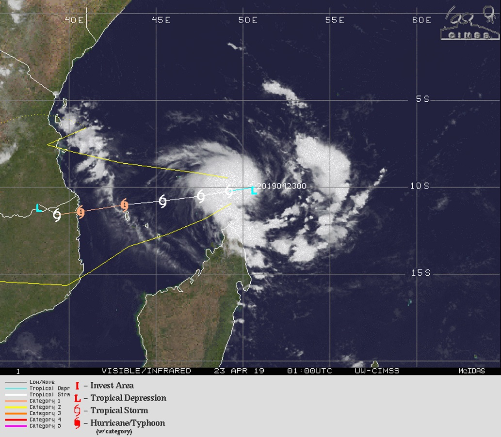 03UTC: TC 24S has formed, forecast to intensify and reach category 1 US in 48hours